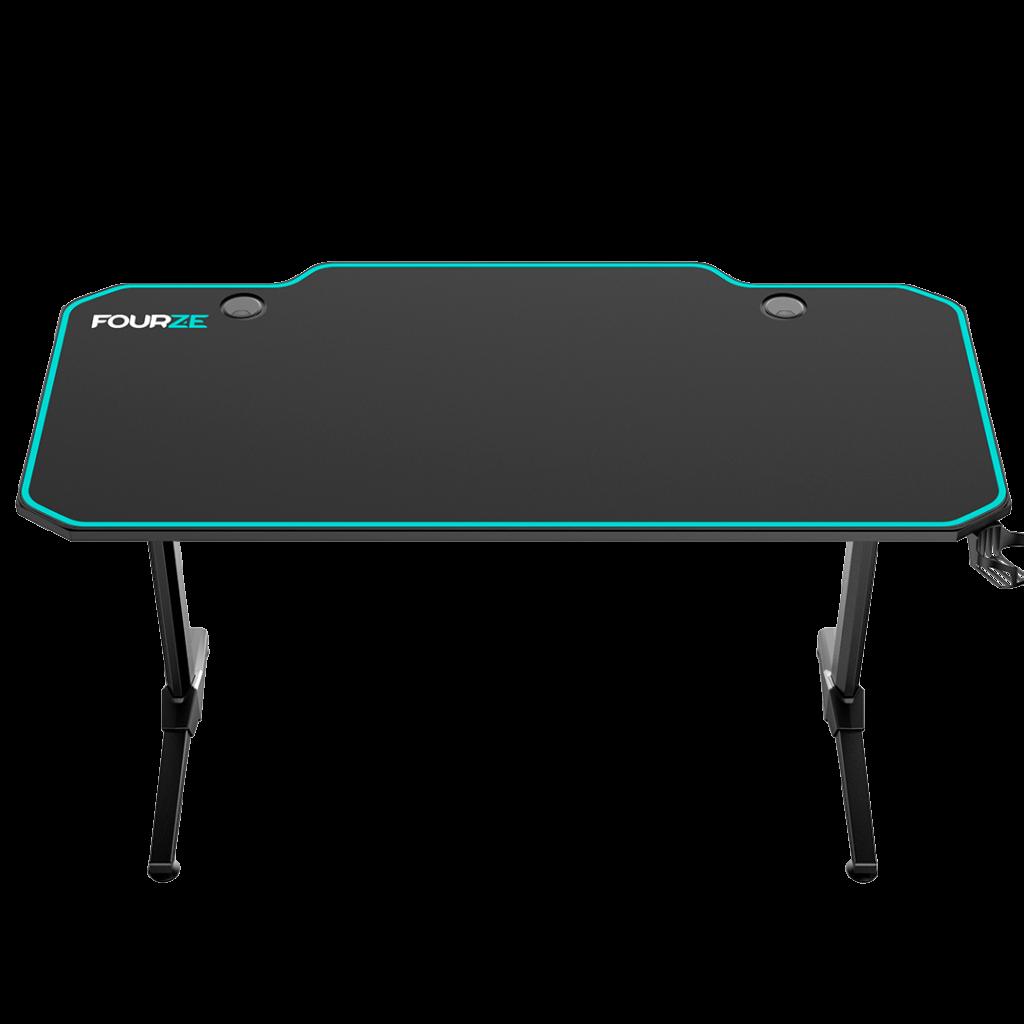 FOURZE D1400 Cyan Gaming Skrivebord produktbillede set forfra