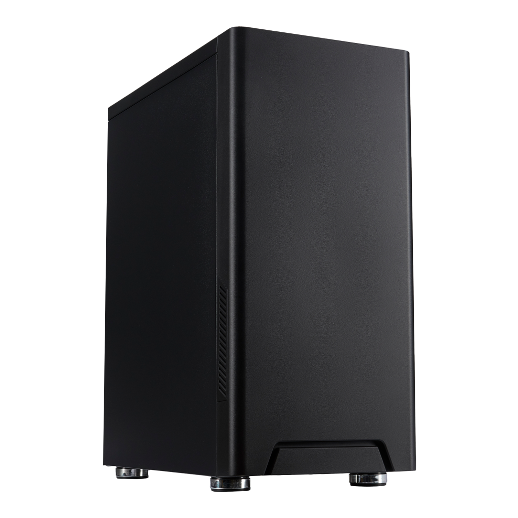 FOURZE T100 Silent Gaming Kabinet Set fra venstre front.